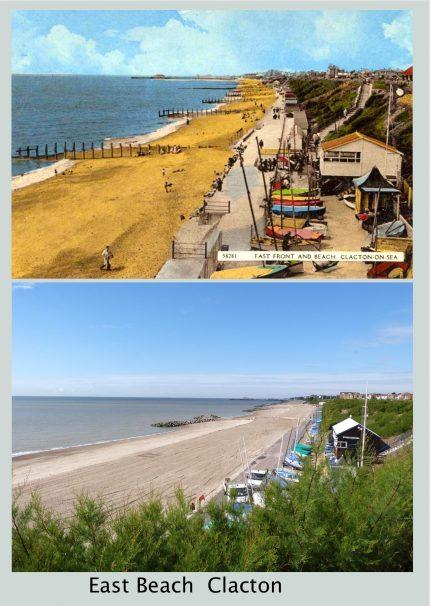 East Beach  Clacton  Then & 2017