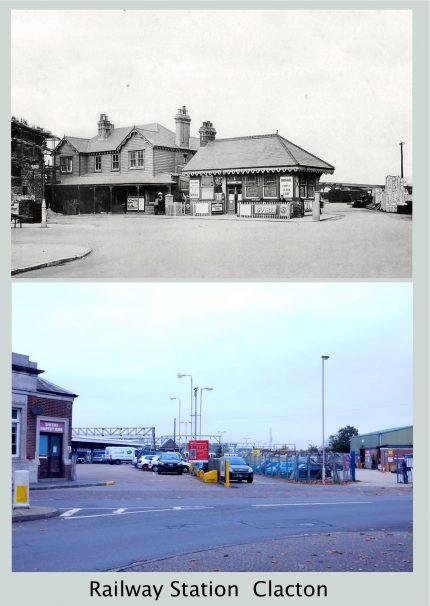 Railway Station  Clacton Then & 2017