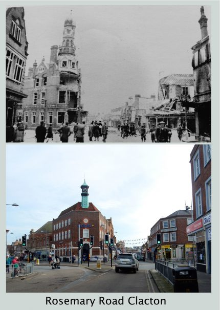 Rosemary Road Clacton Then & 2017