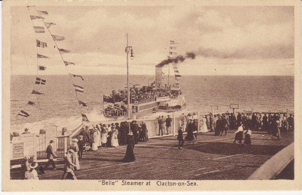 Belle Steamer Leaving Clacton Pier