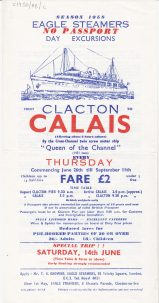 Eagle-steamers-Calais-trip-ad.jpg | Sourced by Roger Kennell, Clacton & District Local History Society