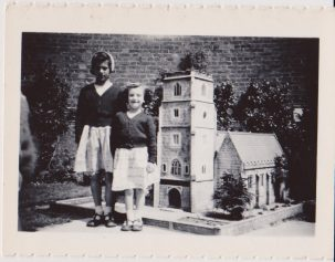 Sisters Barbara & Carol Randall visit the model village at the tower in Clacton | Mrs Edna Randall
