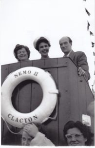 Passengers on board Nemo II | Sourced by Roger Kennell, Clacton & District Local History Society