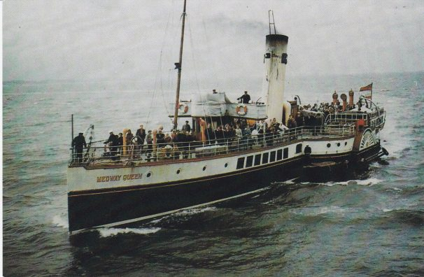 Colour Photo of Medway Queen with passengers | Sourced by Roger Kennell, Clacton & District Local History Society
