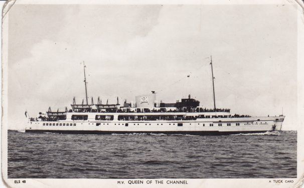 side view of Queen of Channel steamer | Sourced by Roger Kennell, Clacton & District Local History Society