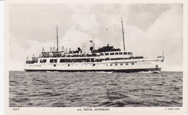 Motor Vessel Royal Sovereign | Sourced by Roger Kennell, Clacton & District Local History Society