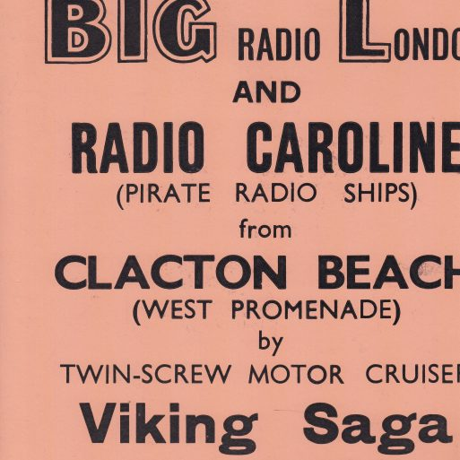 Ticket stub; Viking Saga pirate radio trips | Sourced by Roger Kennell, Clacton & District Local History Society