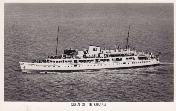 Postcard of Queen of Channel steamer | Sourced by Roger Kennell, Clacton & District Local History Society
