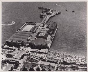Clacton pier aerial view | Photo donated by Tendring DC, accredited to Aerofilms and Aero Pictorial Limited, London office