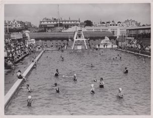 Clacton Pier, swimming pool, date not listed | Photo donated by Tendring District Council