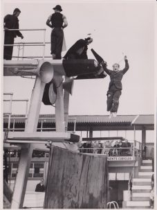Clowns diving, Clacton Pier swimming pool | Photo donated by Tendring District Council