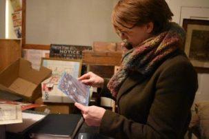 Claire Driver, archivist, Frinton & Walton Heritage Trust archive room | Frinton & Walton Heritage Trust