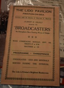 theatre programme: Broadcasters show | Frinton & Walton Heritage Trust