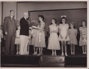 Miss Junior Clacton and attendants | Photo donated by Tendring DC, accredited to H.L. Smerdon