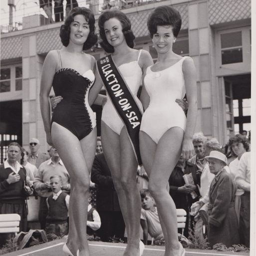 Holiday Girl 1961: Clacton-on-Sea, 3 women wearing sashes | Photo donated by Tendring DC, accredited to MirrorPic