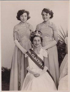 Miss Clacton carnival queen with 2 female attendants all in their 20s | Photo donated by Tendring DC, accredited to H.L. Smerdon