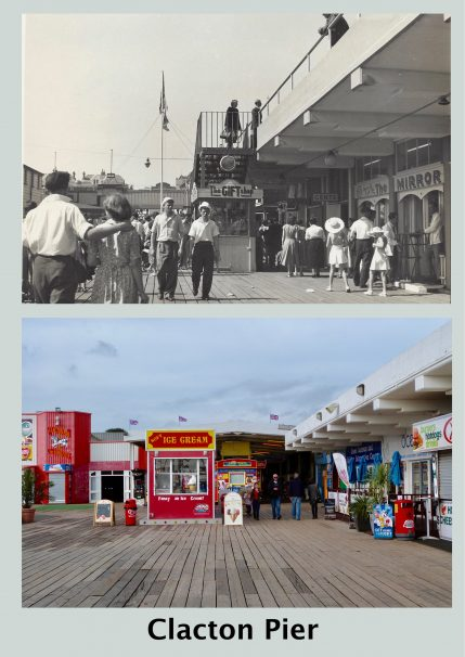 A photograph of Clacton Pier as it was and how it was in 2017 | Terry Hutchinson