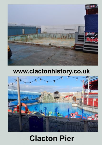Clacton Pier Swimming Pool Then & 2018 | Terry Hutchinson