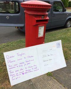 Dear Taylor (Swift) - postcard by children from Alton Park Junior School | J Davies