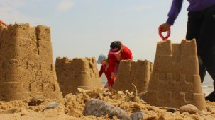 Resorting to the Coast school programme - sandcastle competition | Mercury Theatre