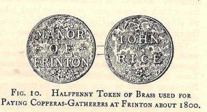 Frinton copperas tokens | Dr. C. Thornton