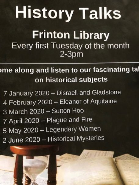 History Talks for Frinton Library 2020